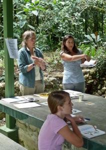 Alison with Kate Allen Desvenain teaching