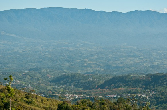 San Vito, Coto Brus Valley, and Talamanca Mts. from Las Paraguas