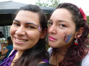 Beautiful painted faces.