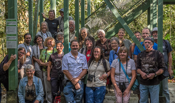 A Bird Walk led by Robert Dean, top step with Julie Girard, kicked off the Annual Meeting 2015 (photo by Harry Hull).