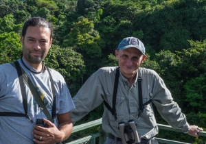 Pepe Castiblanco, naturalist guide and co-owner of Casa Botania, with Robert Dean (photo by Harry Hull).
