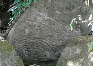Ancient petroglyph (photo by Monique Girard).