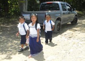 Estudiantes de La Casona (Fotografía de Monique Girard).