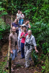 Hiking the Rio Java Trail, Front left Dave Janas, Intern Norman Liu, Alison Olivieri. Photo by Harry Hull.