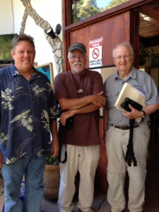 George Alcock, Greg Homer and Fred Schroeder, photo by Jean Schroeder.