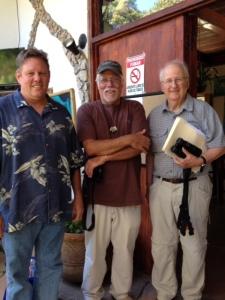 George Alcock, Greg Homer and Fred Schroeder, photo by Jean Schroeder.
