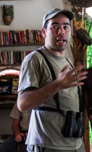 Pablo Elizonda, Director of Costa Rican Bird Observatories. Photo by Gail Hull
