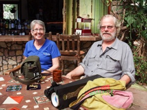 Photographer Jo Davidson and VP Peter Wendell, photo by Alison Olivieri.