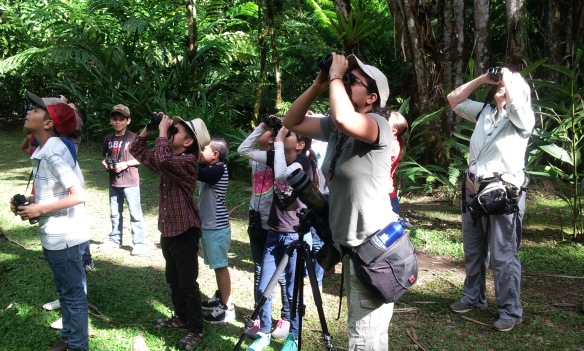 Birdwatching with students